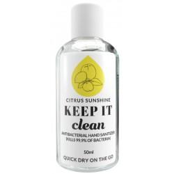 Dezinfekavimo priemonė rankoms Keep It Clean Citrus Sunshine KIC680, drėkinamoji, 50 ml