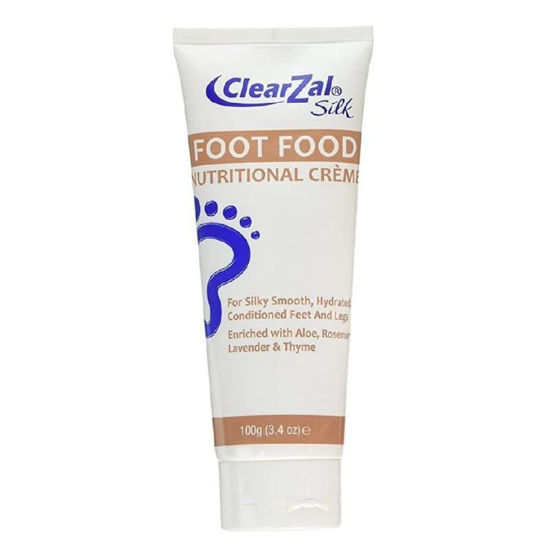 Maitinantis kremas pėdoms ClearZal Silk Foot Food Tube DD620FF, švelnina, maitina pėdų odą, 100 g
