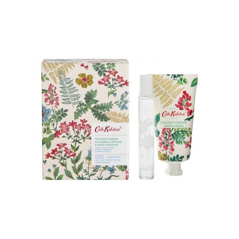 Rinkinys rankoms Heathcote & Ivory Cath Kidston Twilight Garden Jasmine & Mandarine Hand Cream & Roller Ball Set CKFG1605,  rinkinį sudaro rankų kremas, 50 ml, ir rutulinis parfumuotas vanduo, 12 ml
