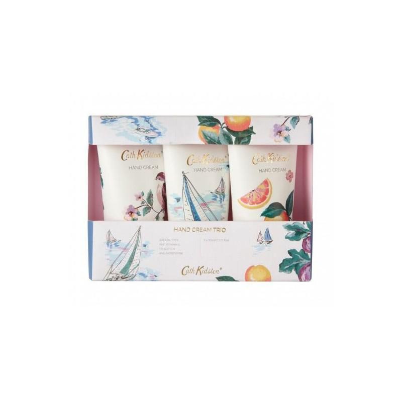 Rinkinys rankoms Heathcote & Ivory Cath Kidston Asorted Fragrances Trio Hand Cream CKFG6830,  rinkinį sudaro trys rankų kremai, 3 x  30 ml