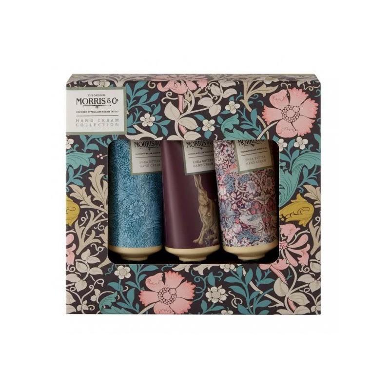 Rinkinys rankoms Heathcote & Ivory Moriss Pink Clay & Honeysuckle Hand Cream Trio MOFG9005, rinkinį sudaro trys rankų kremai, 3 x 30 ml