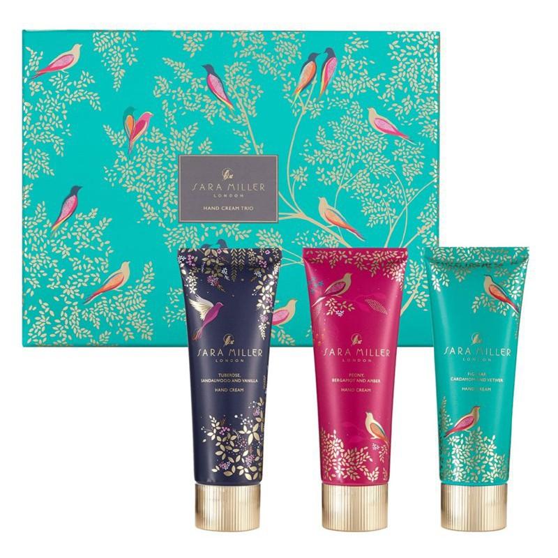 Rinkinys rankoms Heathcote & Ivory Sara Miller Tahiti  Hand Cream Collection, SMFG8520, rinkinį sudaro trys rankų kremai, 3 x 90 ml