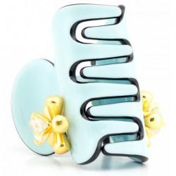 Plaukų segtukas-krabukas Chaplet AZ70381L7G, žalsvos spalvos, 3,5 cm