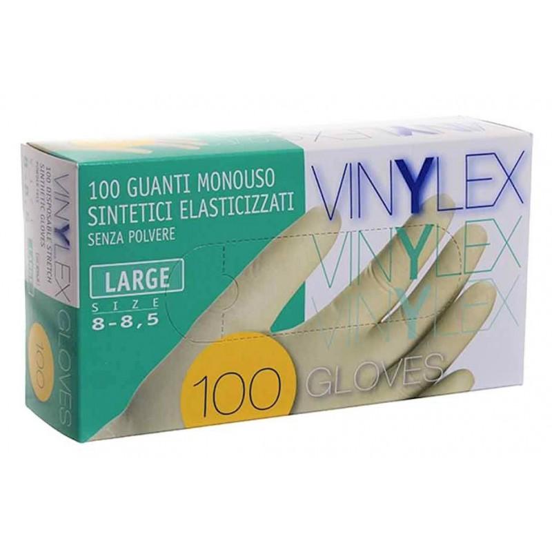 Vienkartinės vinilinės pirštinės Icoguanti EVLSL, L dydžio, 100 vnt., baltos