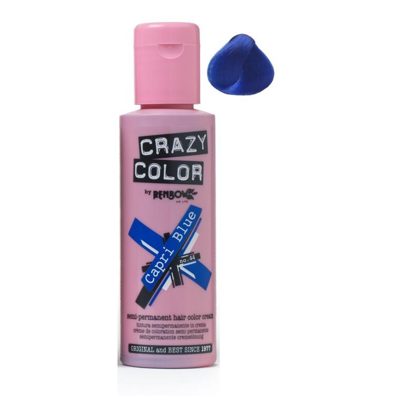 Plaukų dažai Crazy Color COL002234, pusiau ilgalaikiai, 100 ml, 44 mėlyna