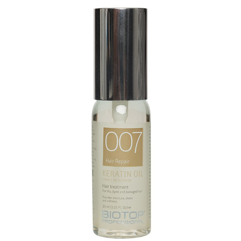 Atstatomasis aliejus plaukams BIOTOP Professional Keratin Impact Hair Repair Oil BIO19775, su keratinu, 30 ml
