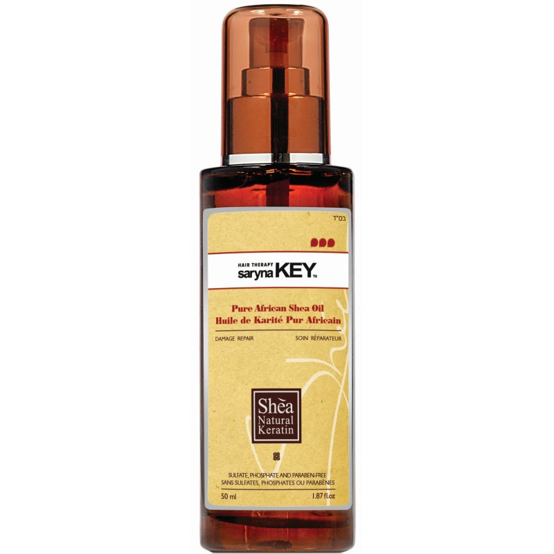 Plaukų aliejus Saryna KEY Damage Repair Pure African Shea Oil su taukmedžio sviestu, atstatomasis, skirtas pažeistiems plaukams, 50 ml