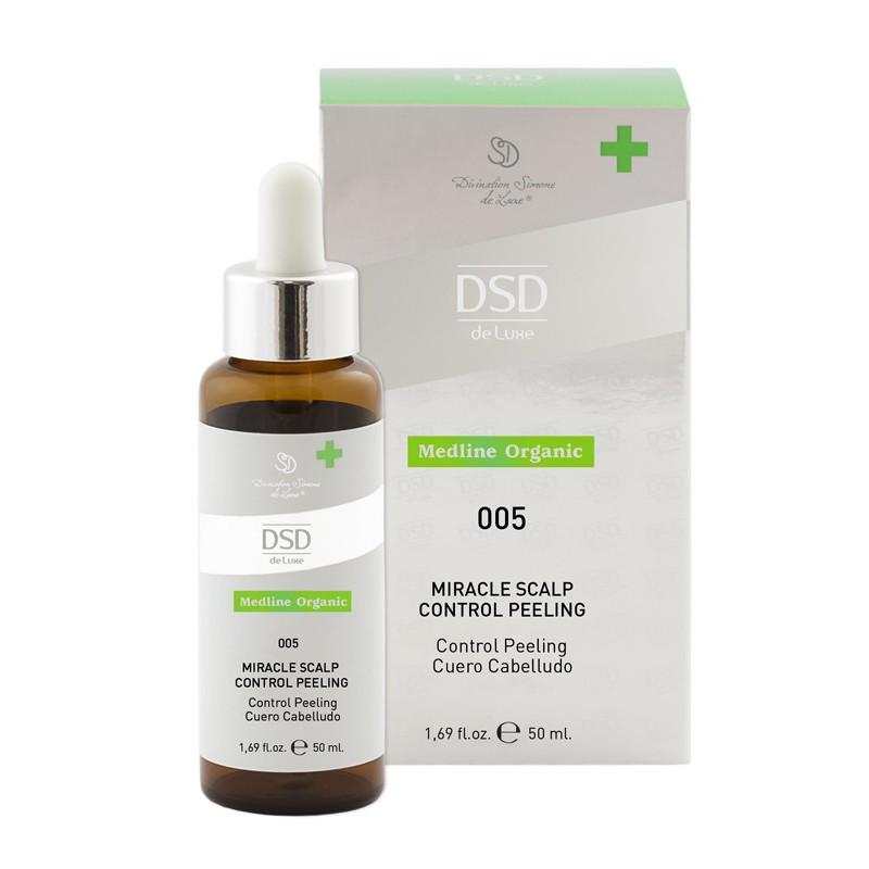 Šveičiamasis skystis galvos odai DSD Medline Organic DSD005 su glikolio rūgštimi ir keramidų kompleksu, 50 ml