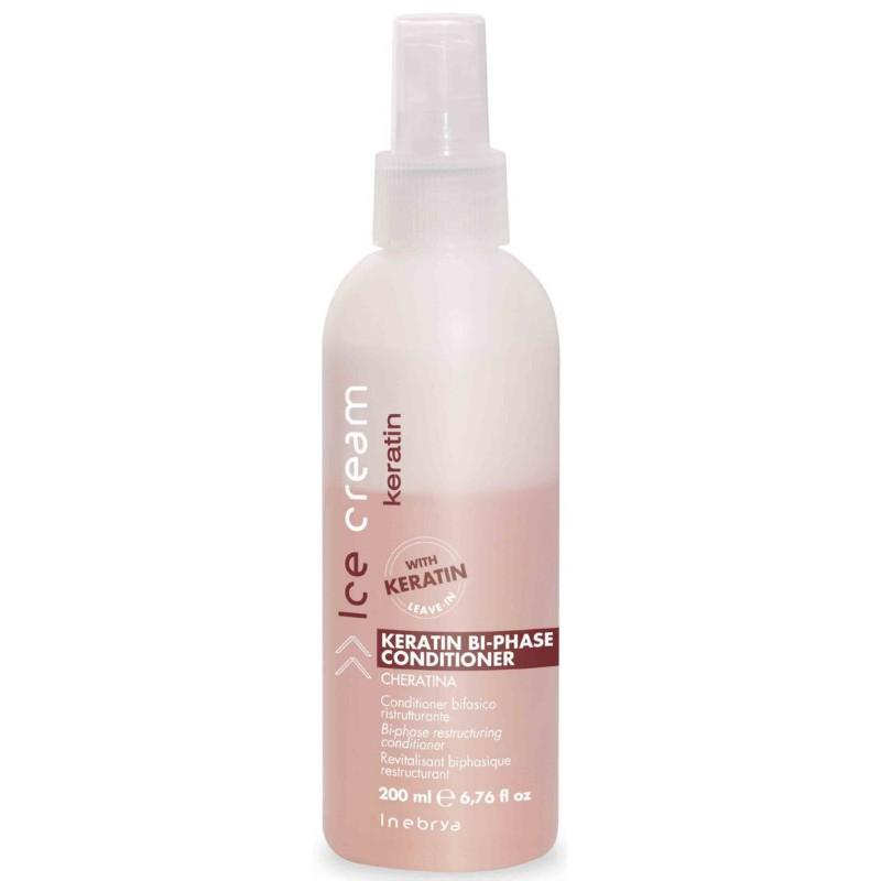 Dvifazis kondicionierius plaukams Ice Cream Keratin Bi-Phase Conditioner ICE6070, su keratinu, 200 ml