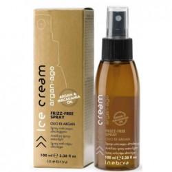 Glotninantis plaukus purškiklis Inebrya Ice Cream Frizz-Free Spray ICE6189, lengvos tekstūros, tinka visų tipų plaukams, 100 ml