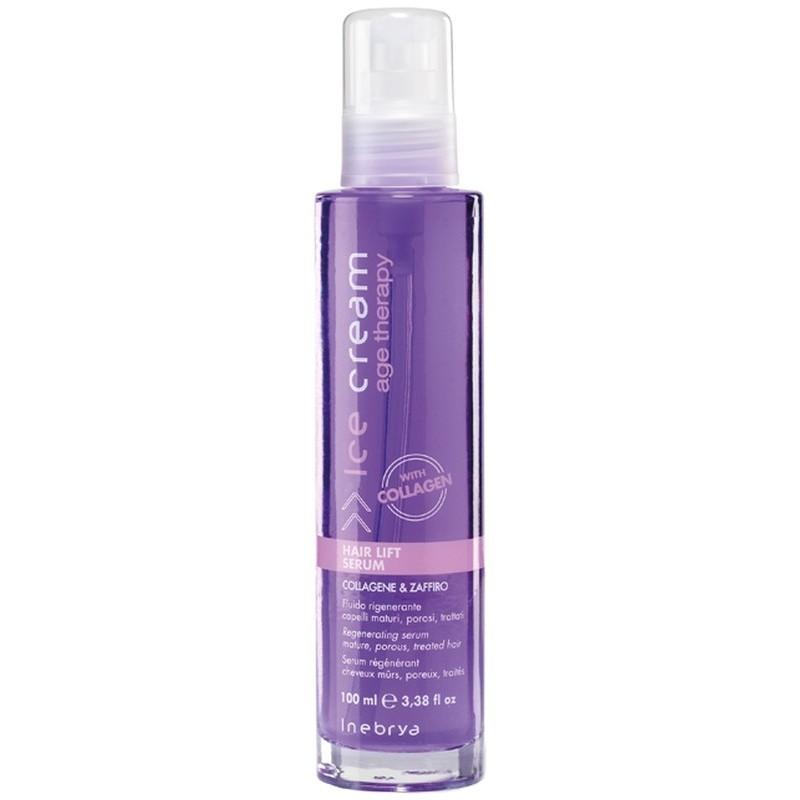 Atstatomasis serumas su kolagenu pažeistiems plaukams Inebrya Ice Cream ICE6898, 100 ml