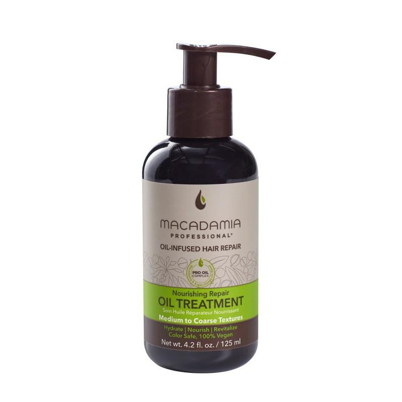 Maitinamasis, drėkinamasis aliejus sausiems plaukams Macadamia Nourishing Repair Oil Treatment MAM400100, 125 ml
