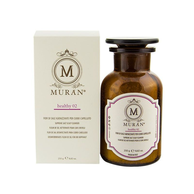 Aukščiausios kokybės jūros druskos šveitiklis, galvos odai Muran Supreme Salt Scalp Cleanser MH02, 250 ml