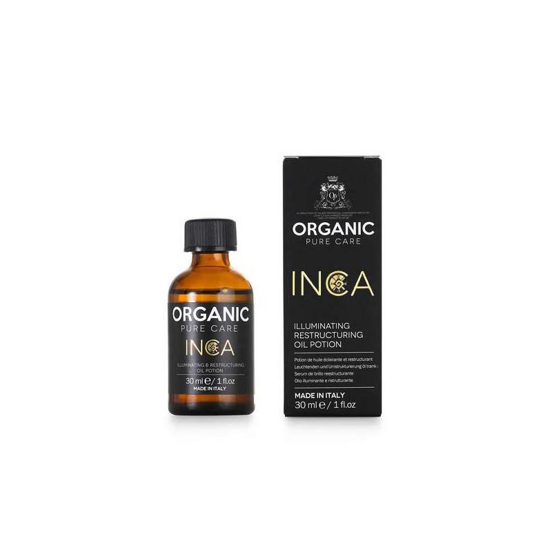 Atstatomasis aliejus plaukams Organic Pure Care Inca Illuminating Restructuring Oil Potion ORGM574, suteikiantis žvilgesio, 30 ml