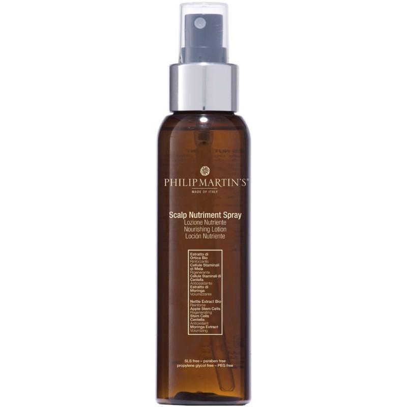Maitinamasis losjonas plaukams ir galvos odai Philip Martin's Scalp Nutriment Spray PM859, skatina plaukų augimą, purškiama, 100 ml