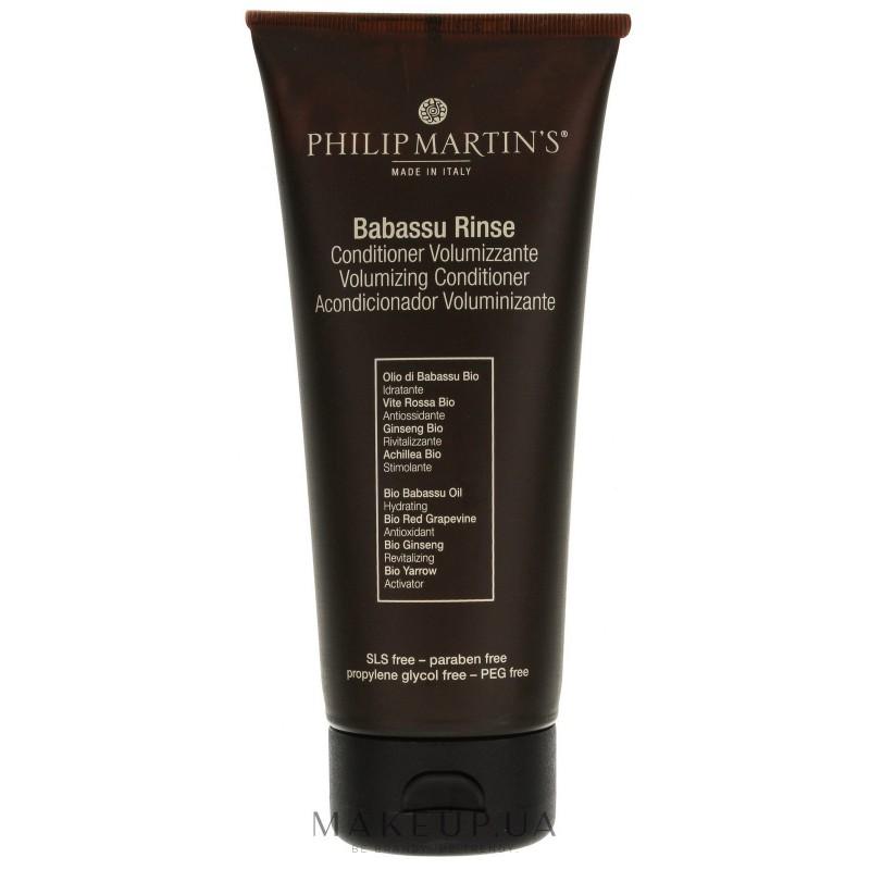 Plaukų apimtį didinantis kondicionierius Philip Martin's Babassu Rinse PM877, ploniems plaukams, 100 ml