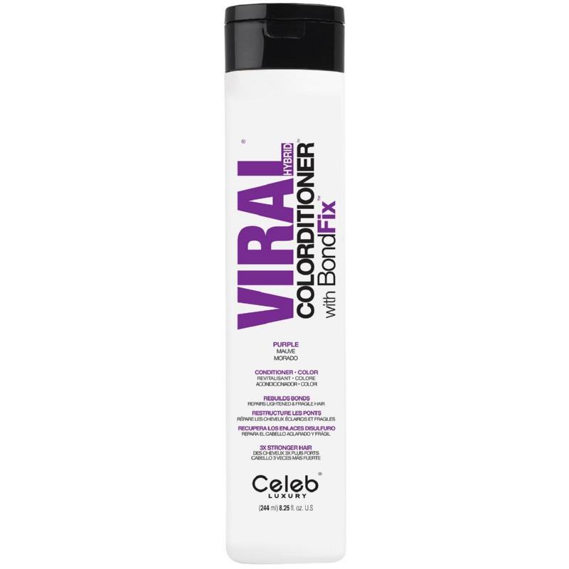 Dažantis kondicionierius plaukams Celeb Luxury Viral Purple Colorditioner CEL80381, 244 ml