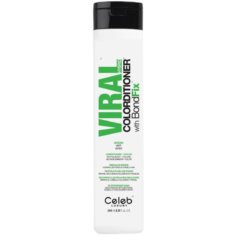 Dažantis kondicionierius plaukams Celeb Luxury Viral Green Colorditioner CEL80384, 244 ml