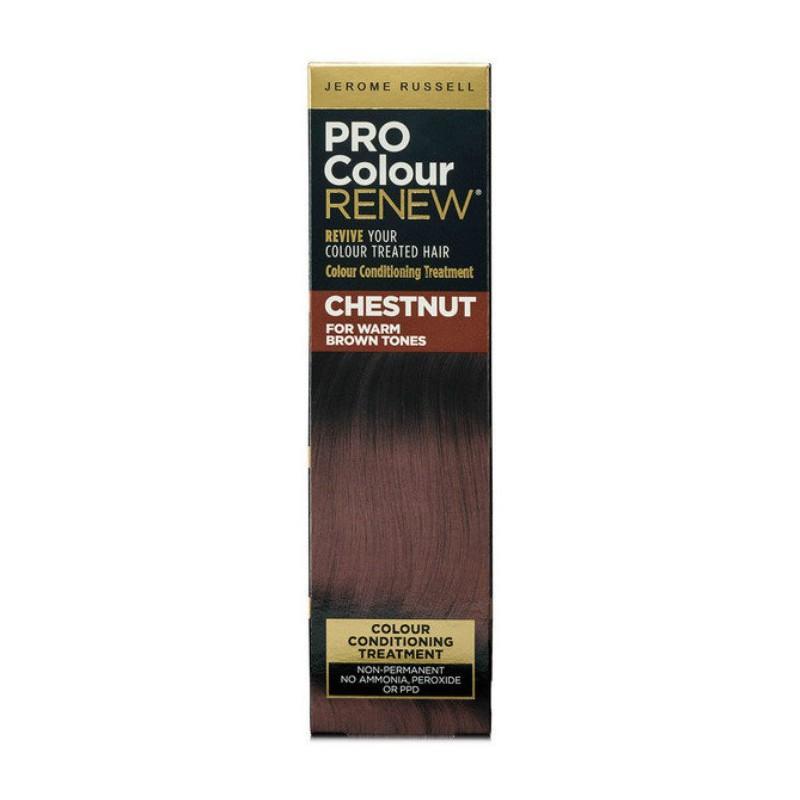 Plaukų kremas su spalva Jerome Russell Pro Colour Renew Chestnut JR534456, skirtas atgaivinti esančią plaukų spalvą, 100 ml