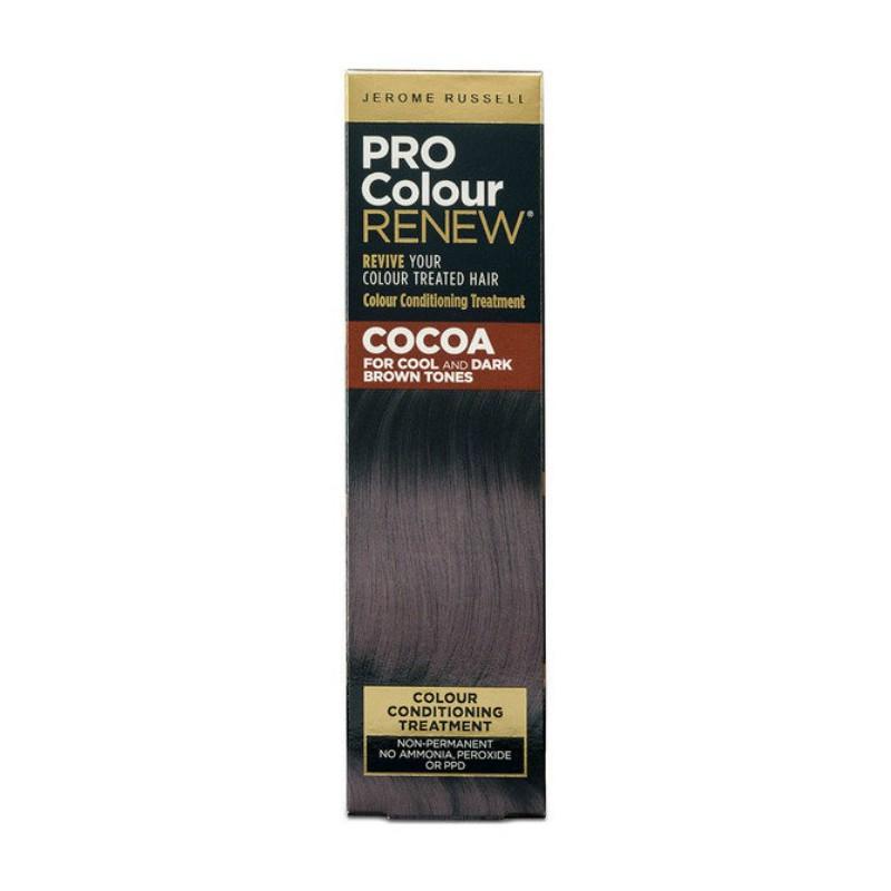 Plaukų kremas su spalva Jerome Russell Pro Colour Renew Cocoa JR534457, skirtas atgaivinti esančią plaukų spalvą, 100 ml