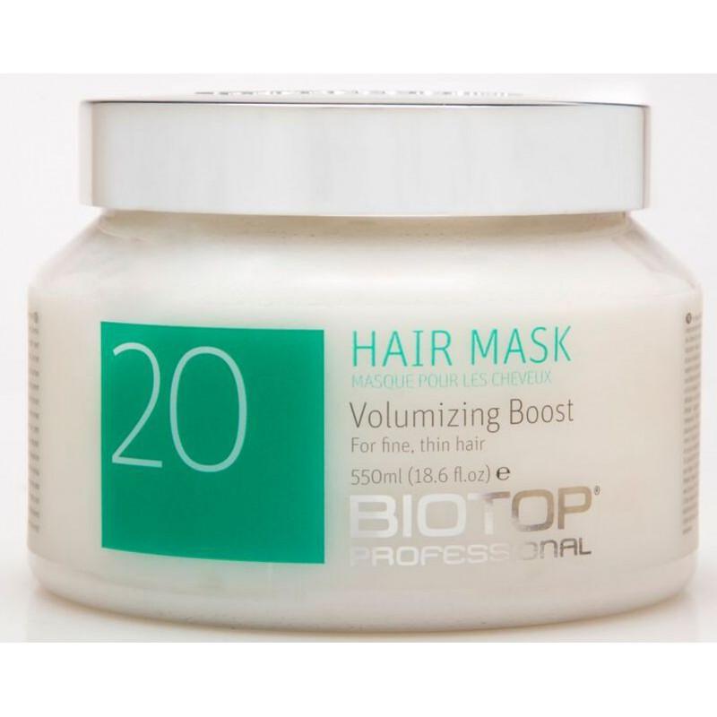 Apimties plaukams suteikianti kaukė Biotop Volumizing Hair Mask BIO25481, pažeistiems ir silpniems plaukams, 550 ml