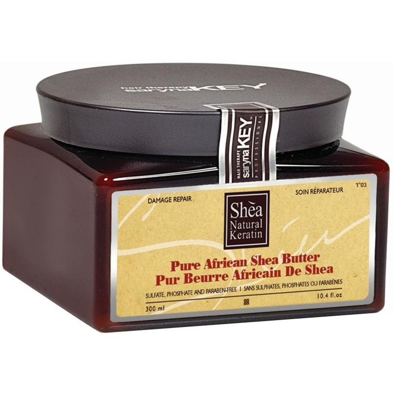 Plaukų kaukė Saryna KEY Damage Repair Pure African Shea Butter, su taukmedžio sviestu, atstatomoji, skirta pažeistiems plaukams, 300 ml