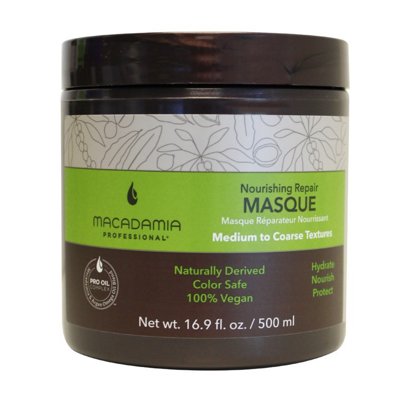 Maitinamoji, drėkinamoji kaukė sausiems plaukams Macadamia Nourishing Repair Masque, MAM300201, 500 ml
