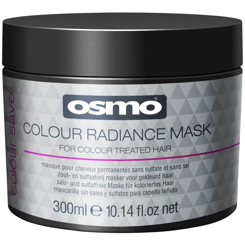 Blizgesio suteikianti kaukė dažytiems plaukams Osmo Colour Save Colour Radiance Mask OS064082, 300 ml