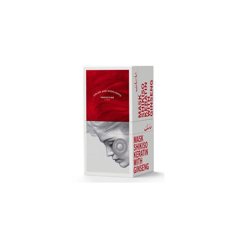 Kaukė plaukams Trendy Hair Mask Shikiso TH13046 su grynu keratinu ir ženšeniu, skirta dažytiems ir šviesintiems plaukams, 500 ml