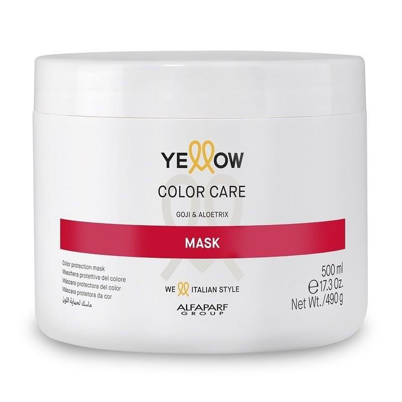 Kaukė dažytiems plaukams Yellow Color Care Mask YE017109, 500 ml