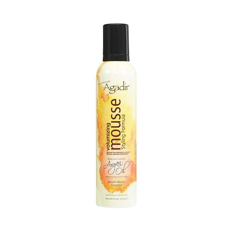 Apimties teikiančios putos plaukams Agadir Argan Oils Volumizing Mousse AGD2070, skirtos plaukų formavimui, suteikia apimties ir žvilgesio, 241 g.