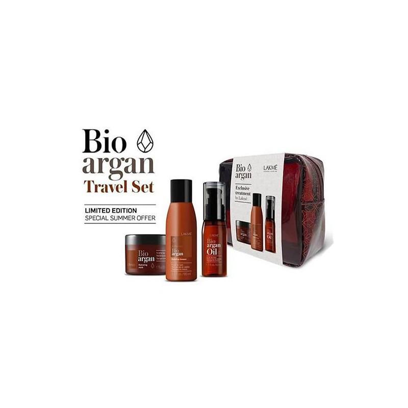 Plaukų priežiūros priemonių rinkinys Lakme Bio-Argan Travel Pack LAK43001