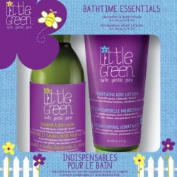 Plaukų ir kūno priežiūros priemonių rinkinys vaikams Little Green Bathtime Essentials LGKBE19, rinkinį sudaro: plaukų šampūnas ir kūno prausiklis vaikams 240 ml ir kūno losjonas vaikams 180 ml