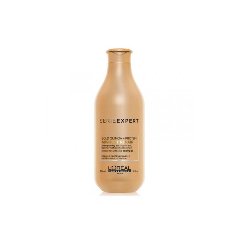 Atkuriamasis šampūnas plaukams L'Oréal Professionnel Absolut Repair Gold Quinoa + Protein Shampoo _LORE2988600, skirtas labai pažeistiems plaukams, 300 ml