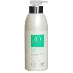 Apimties plaukams suteikiantis šampūnas BIOTOP Volumizing Boost Shampoo BIO19780, silpniems ir pažeistiems plaukams, 500 ml