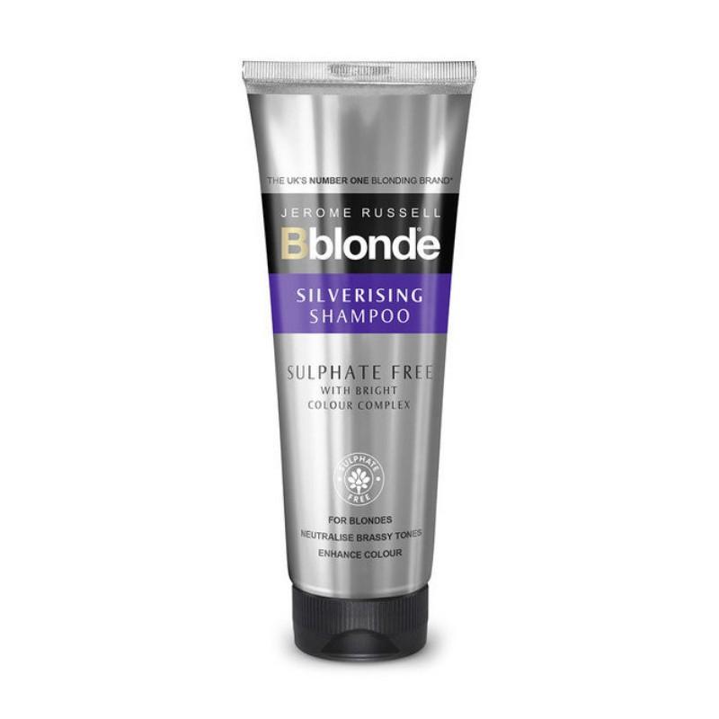 Pilkinantis šampūnas plaukams Jerome Russell Silverising Shampoo JR534350, šampūnas neutralizuojantis geltonumą, violetinio atspalvio, 250 ml