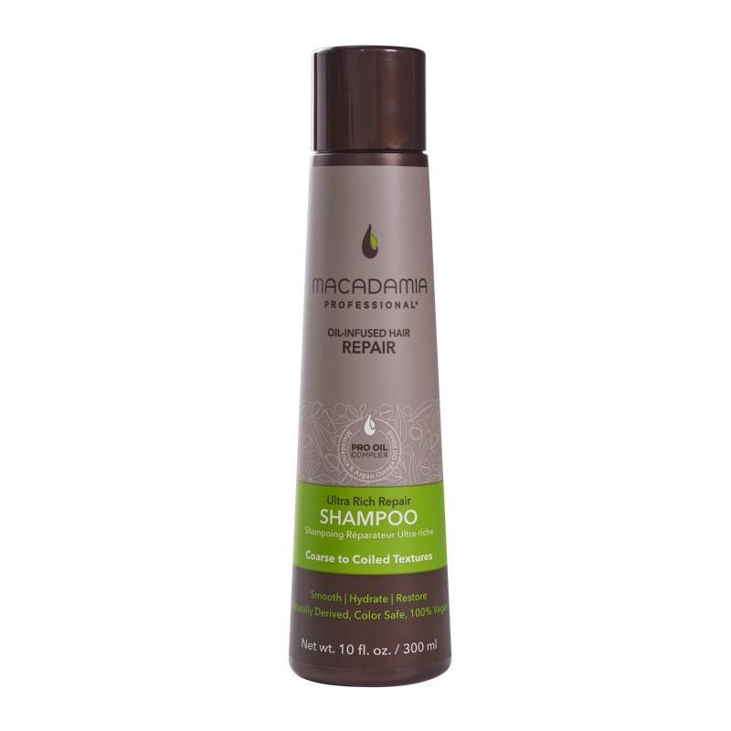 Ypač drėkinamasis šampūnas sausiems, pažeistiems plaukams, Macadamia Ultra Rich Repair Shampoo, MAM100300, 300 ml