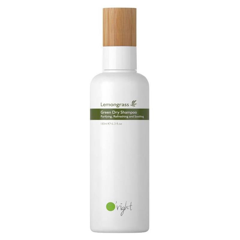 Sausas šampūnas plaukams Oright Lemongrass Green Dry Shampoo OR1AA8018A, su citrinžole, 180 ml