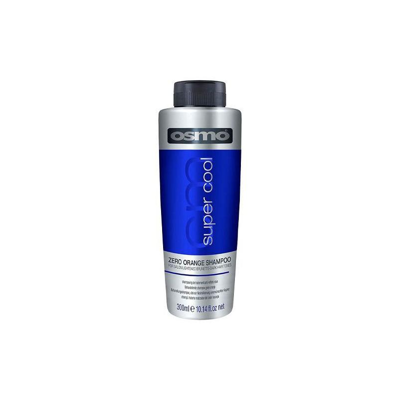 Šampūnas tamsiems plaukams Osmo Super Cool Zero Orange Shampoo OS064130, pašalina nepageidaujamą oranžinį atspalvį, 300 ml