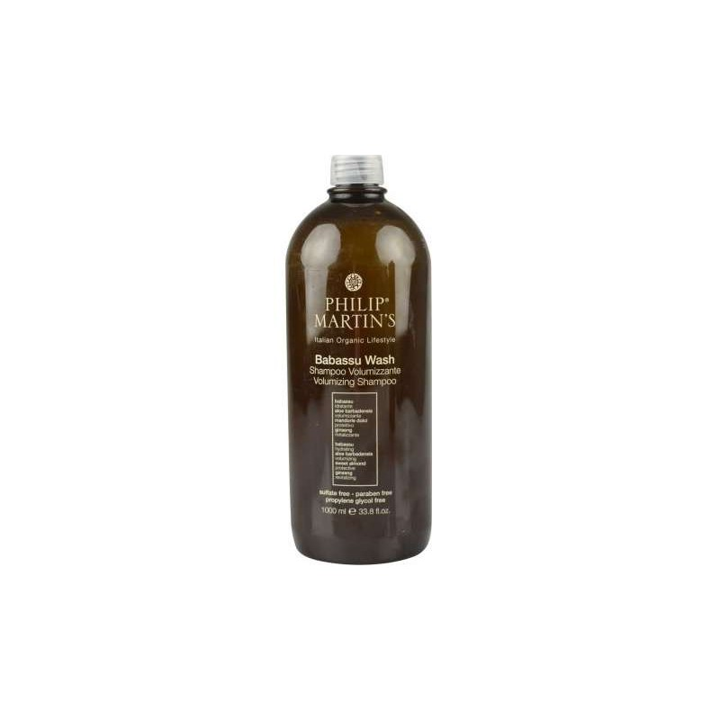 Plaukų apimtį didinantis šampūnas Philip Martin's Babassu Wash PM801, ploniems plaukams 1000 ml