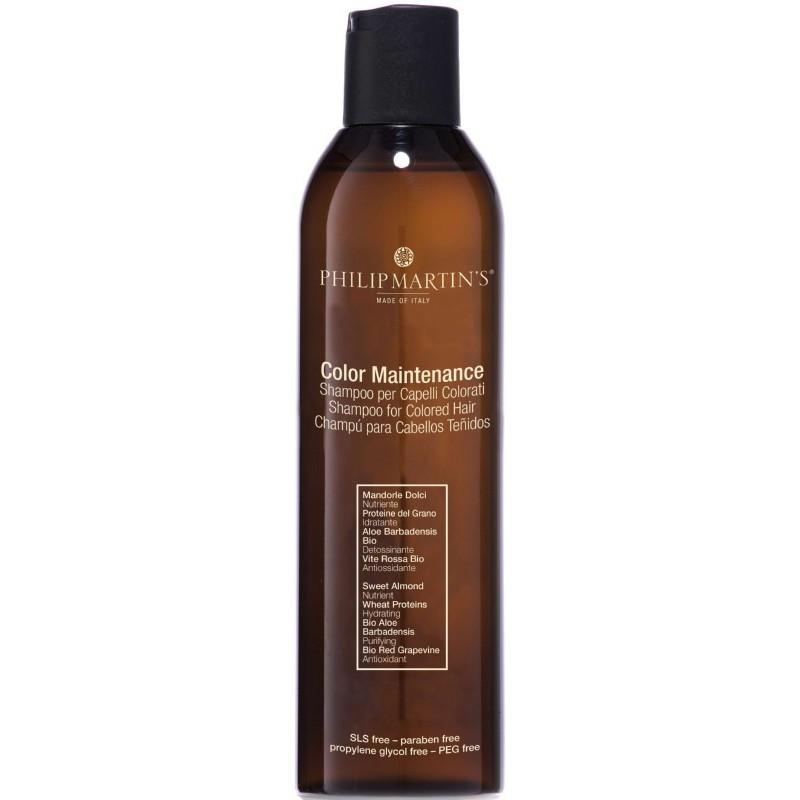 Dažytų plaukų šampūnas Philip Martin's Colour Maintenance PM828, dažytiems ir pažeistiems plaukams, 250 ml