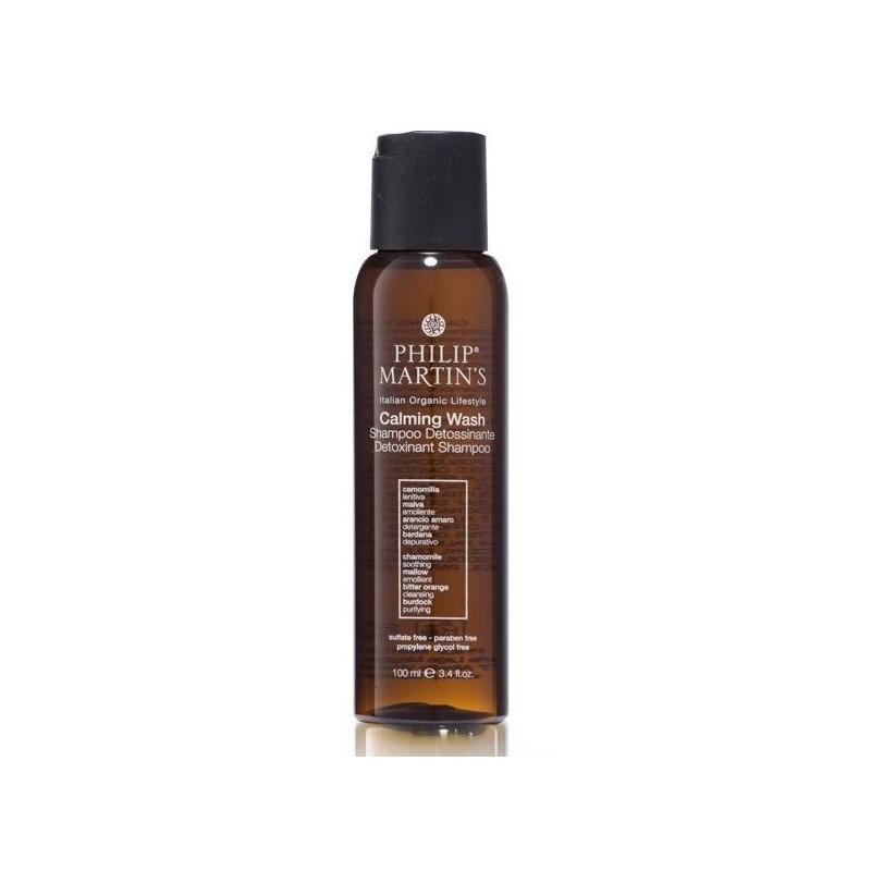 Raminamasis detoksikuojantis plaukų šampūnas Philip Martin's Calming Wash PM871, valo nešvarumus ir bakterijas, 100 ml