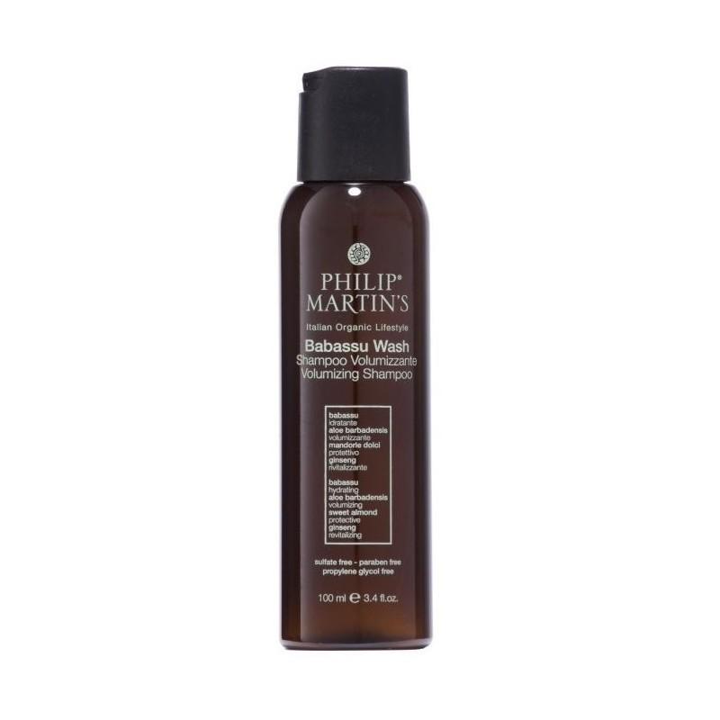 Plaukų apimtį didinantis šampūnas Philip Martin's Babassu Wash PM873, ploniems plaukams 100 ml