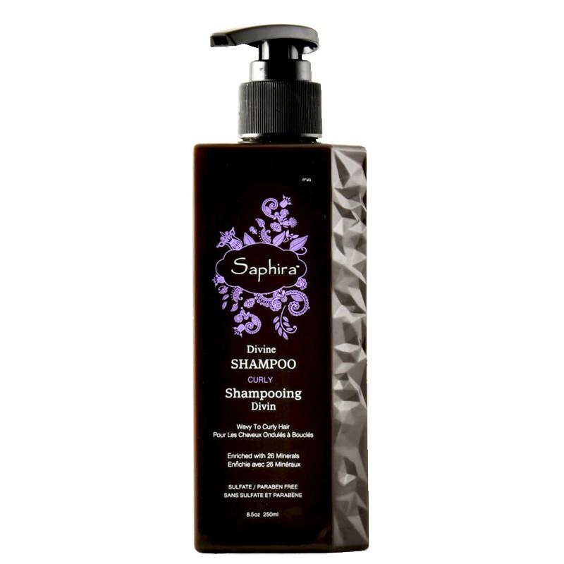 Intensyviai drėkinantis šampūnas plaukams Saphira Divine Shampoo SAFDS2, ypač sausiems, besipučiantiems, besigarbanojantiems plaukams, 250ml