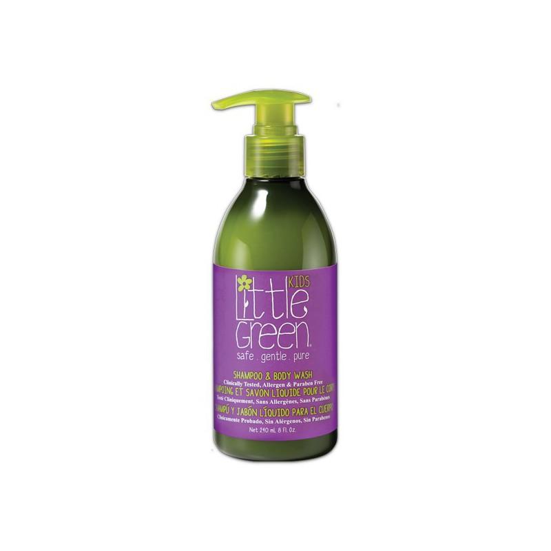 Plaukų šampūnas ir kūno prausiklis vaikams Little Green Kids Shampoo & Body Wash LGK8, 240 ml