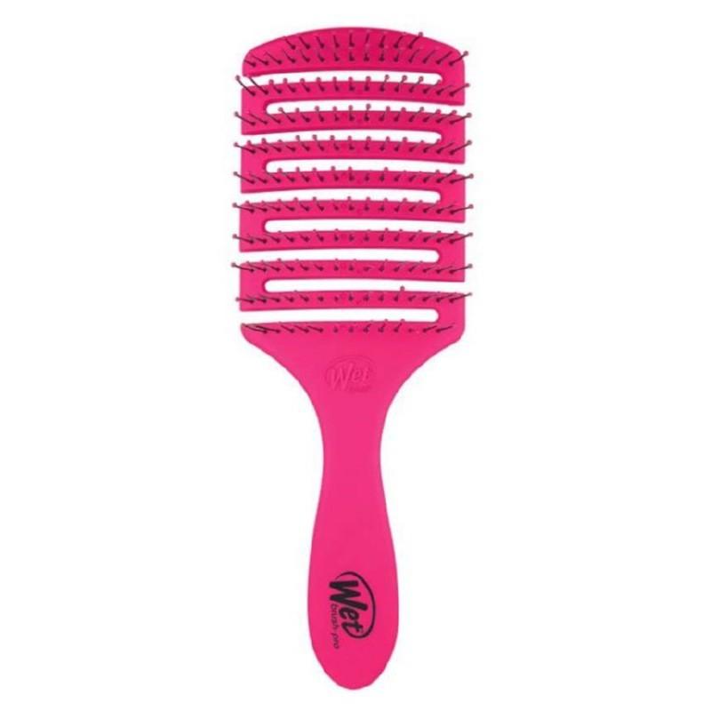 Lankstus šepetys plaukų džiovinimui Wet Brush Flex Dry Paddle Pink BWP831FLEXPKP, rožinės spalvos, stačiakampis