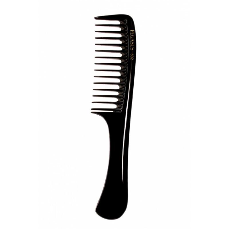 Lanksčios šukos Pegasus Hard Rubber Comb PEG502, juodos spalvos