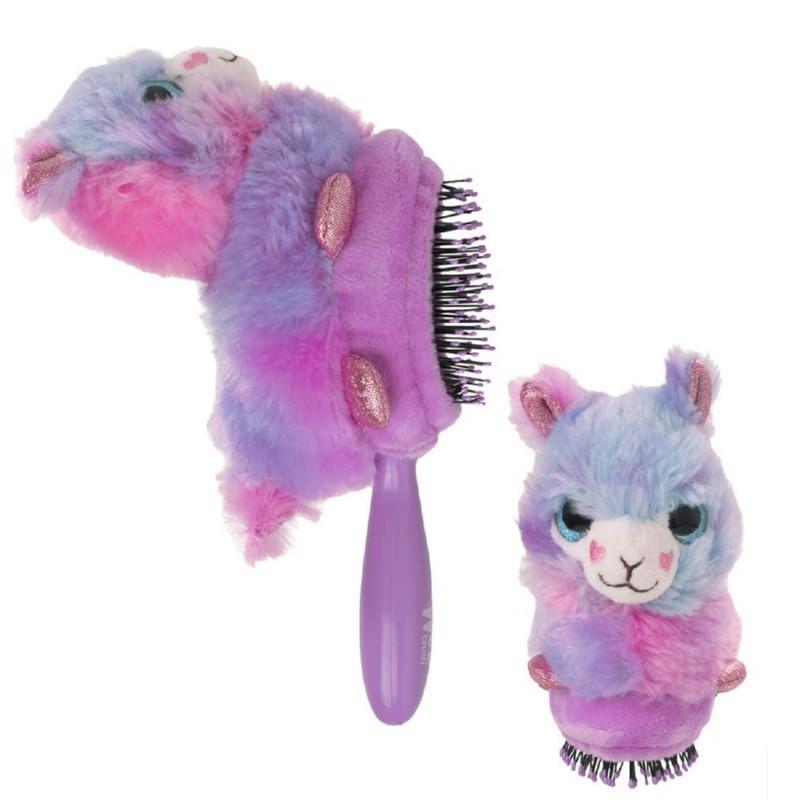 Vaikiškas šepetys Wet Brush Plush Brush Llama BWRPLUSHLLAMA, violetinė lama - šepetys