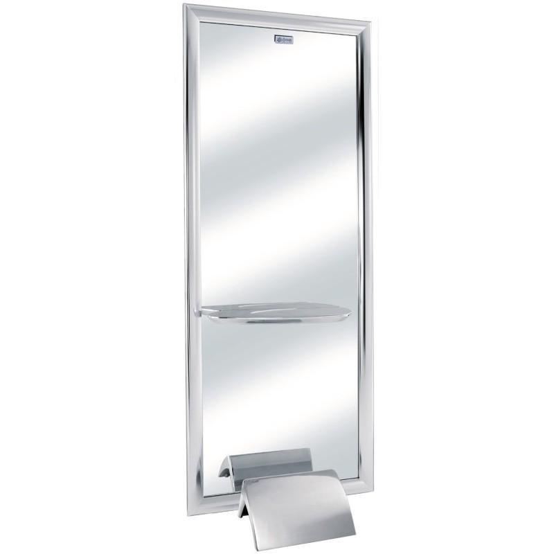 Sieninis veidrodis Ceriotti Jill Light CERG9854 su aliuminiu rėmu ir LED apšvietimu, 80x29x200 cm