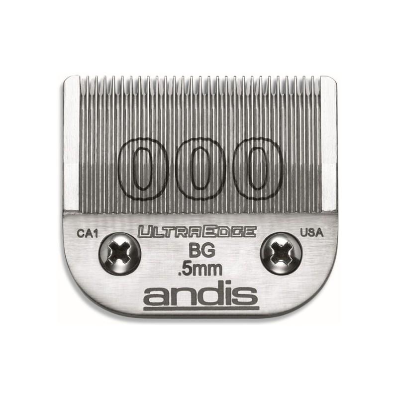 Peiliukai Andis Ultra Edge 000 AN-64073 plaukų kirpimo mašinėlėms AG, AGC, AGR, BG, BGC, BGR, MBG, SMC, 0,5 mm ilgio